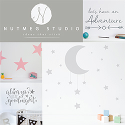 Nutmeg is a small business based in Buckinghamshire creating high quality decorative wall stickers.  Our unique high quality wall stickers are an easy way to add a personal touch to your home decor. Quick and easy to apply, they can transform your home in a matter of minutes. They can be used on most surfaces, and work especially well on smooth surfaces like walls, doors, and mirrors.  Our wide range of colour and style means that you can find something that truly suits your home.