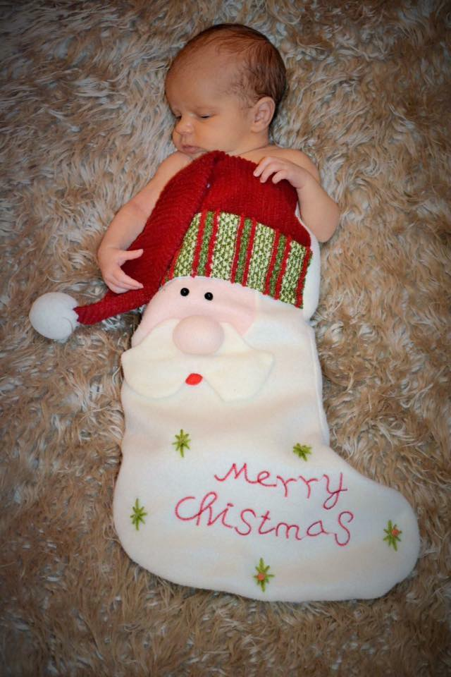 We'd love to find little Joel Dawson in our stocking on Christmas morning! This sweetie was sent in by Lise Marie Jeffery