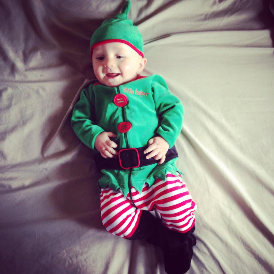 The best way to spread Christmas cheer is singing loud for all to hear! This little elf was sent in by Charlotte Dee and is beyond cute!