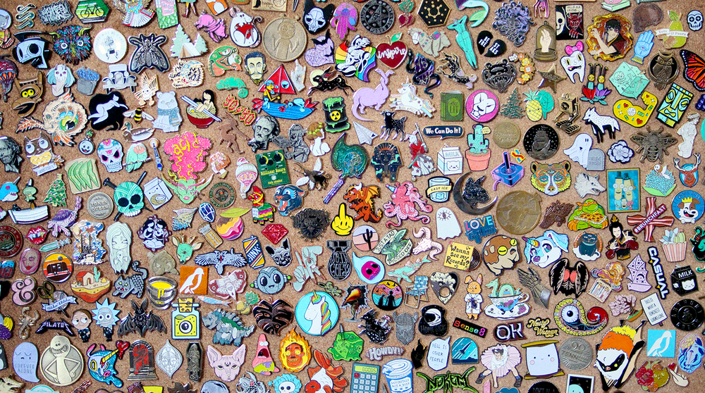 Some of the many awesome pins we've helped to make!