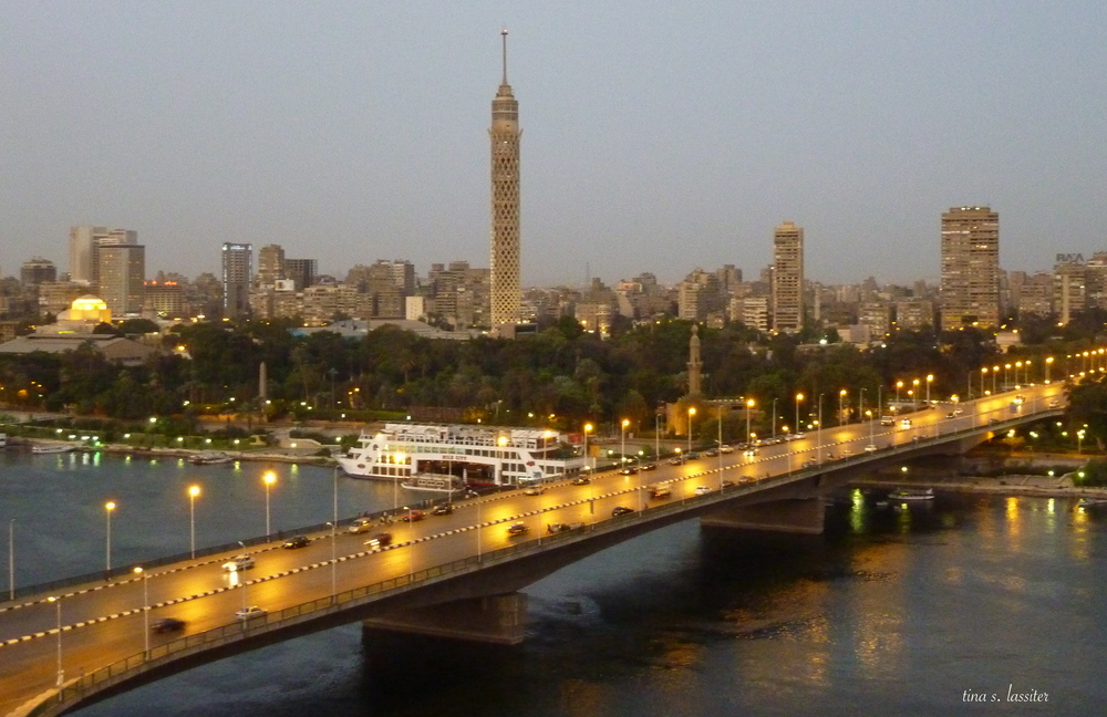 cairo bridge at dawn