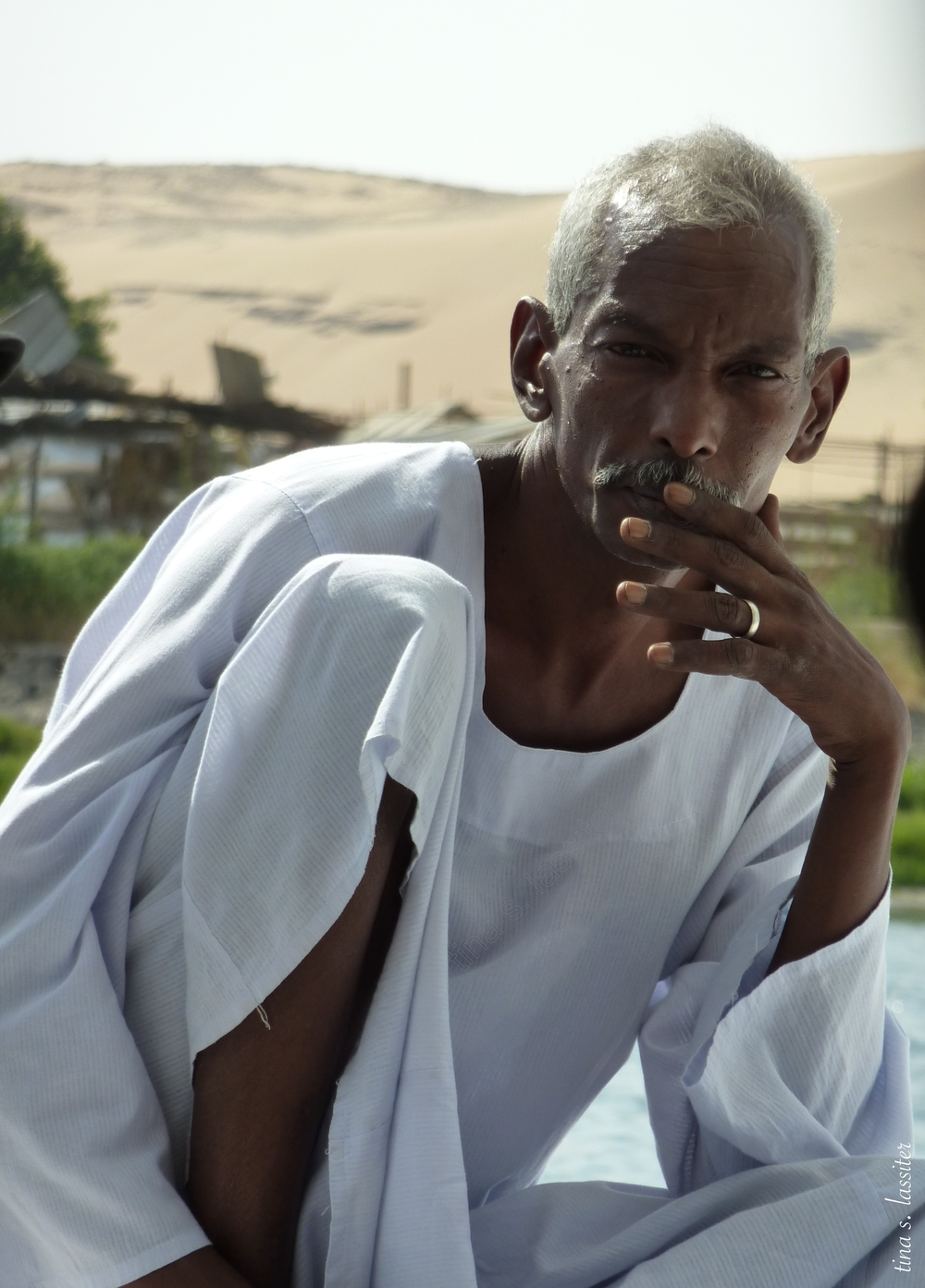 nubian boatman, egypt