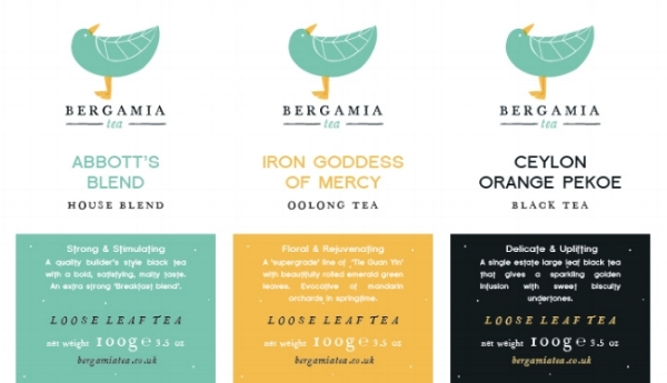 Brand tea labels - Designs by OhhhKaye.co.uk for Bergamia Tea