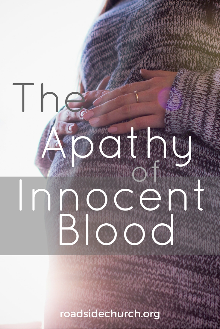 the apathy of innocent blood