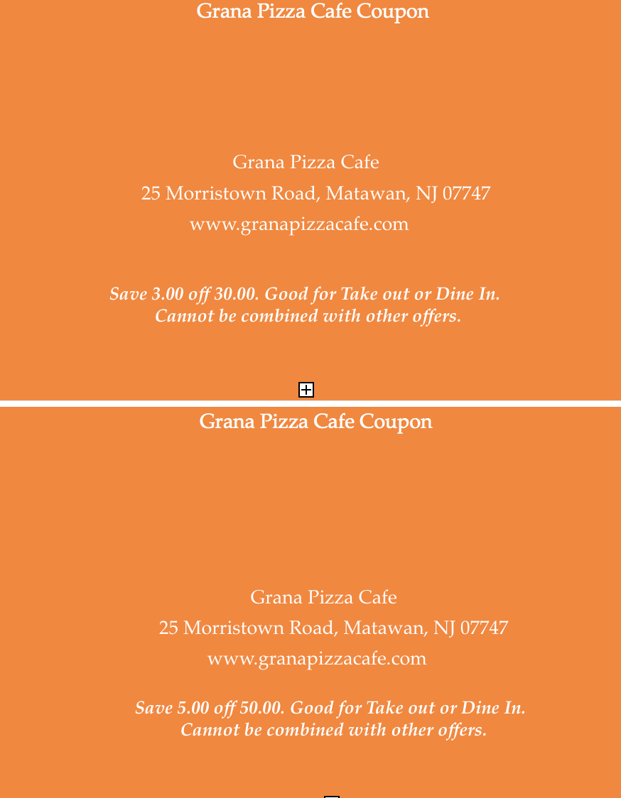 Grana Pizza Cafe Coupon.png