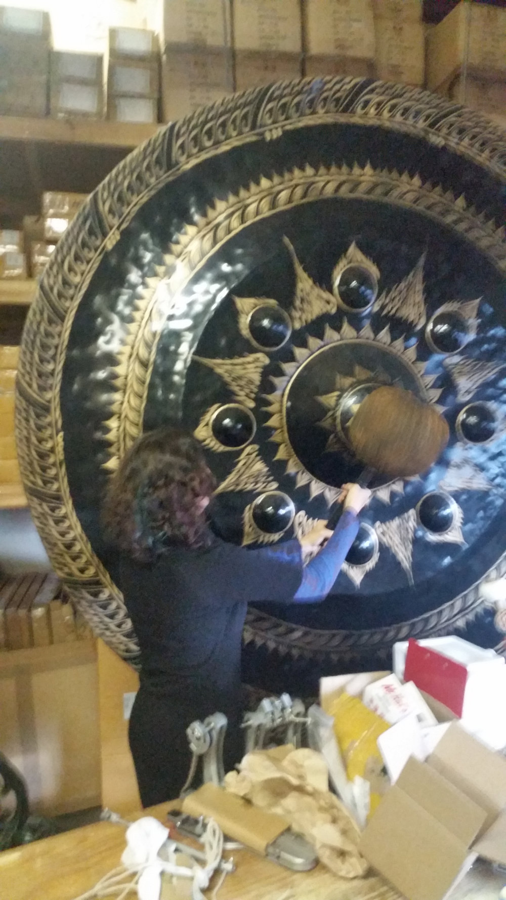 84 inch nipple gong in Gongs Unlimited warehouse