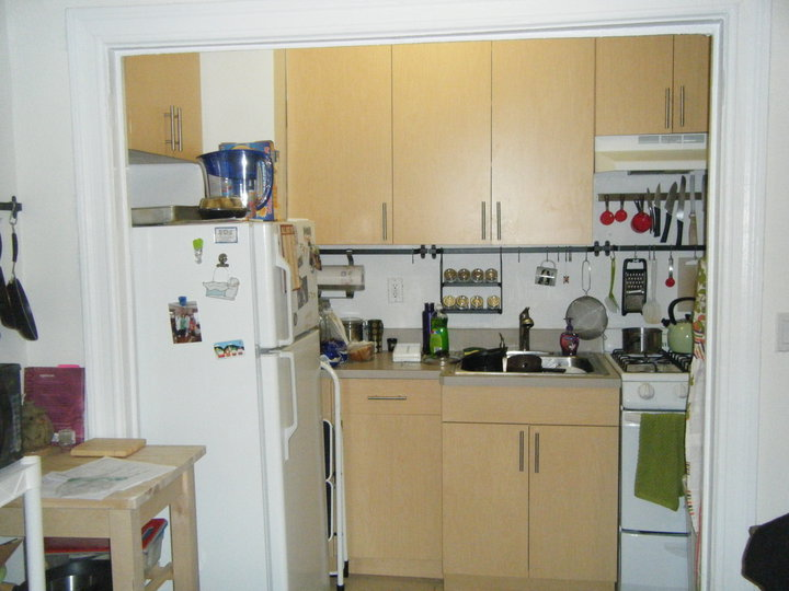 "My first NYC apartment. This kitchen was considered ""spacious"" by some."