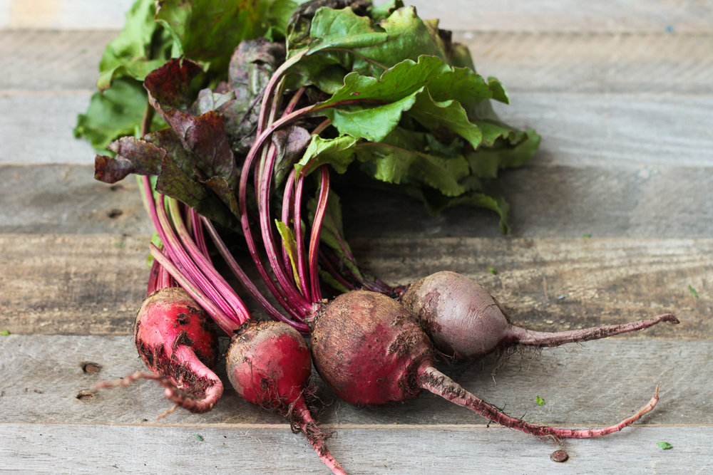 red beets in a bunch