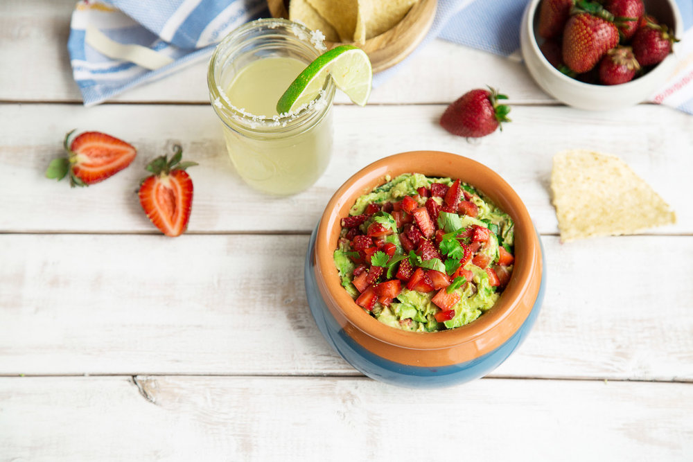 spicy strawberry guacamole