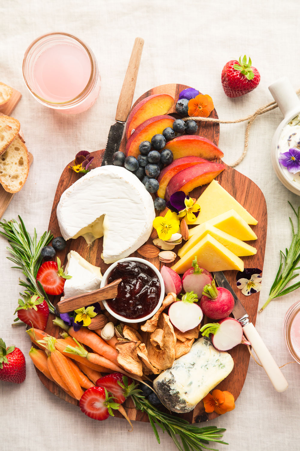 summer fruit cheese board