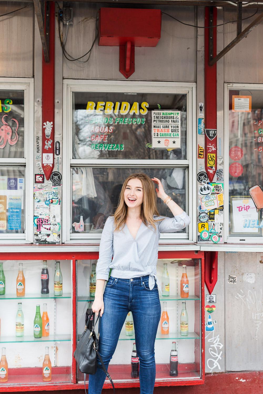 food blogger portrait in soho