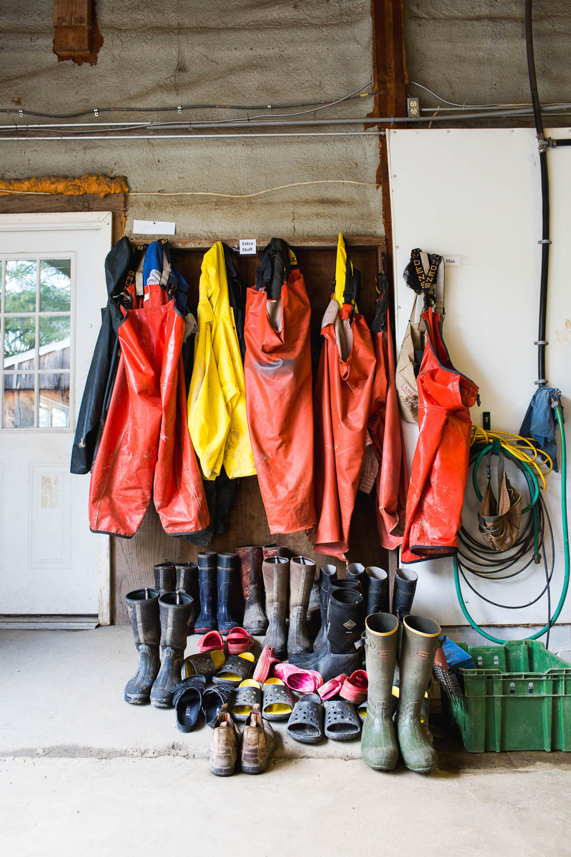 boots inside a barn