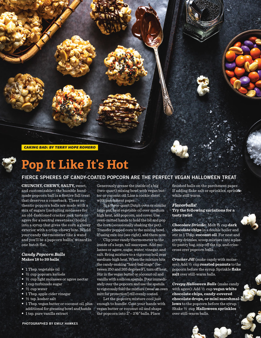 popcorn balls editorial food photography