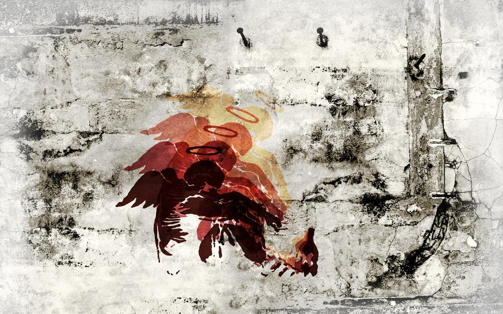 Fallen Angel, by Banksy