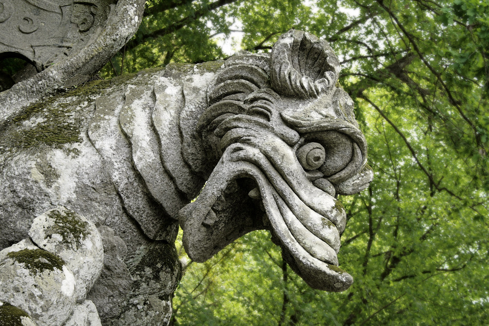 Detail from the Holy Woods of Bomarzo