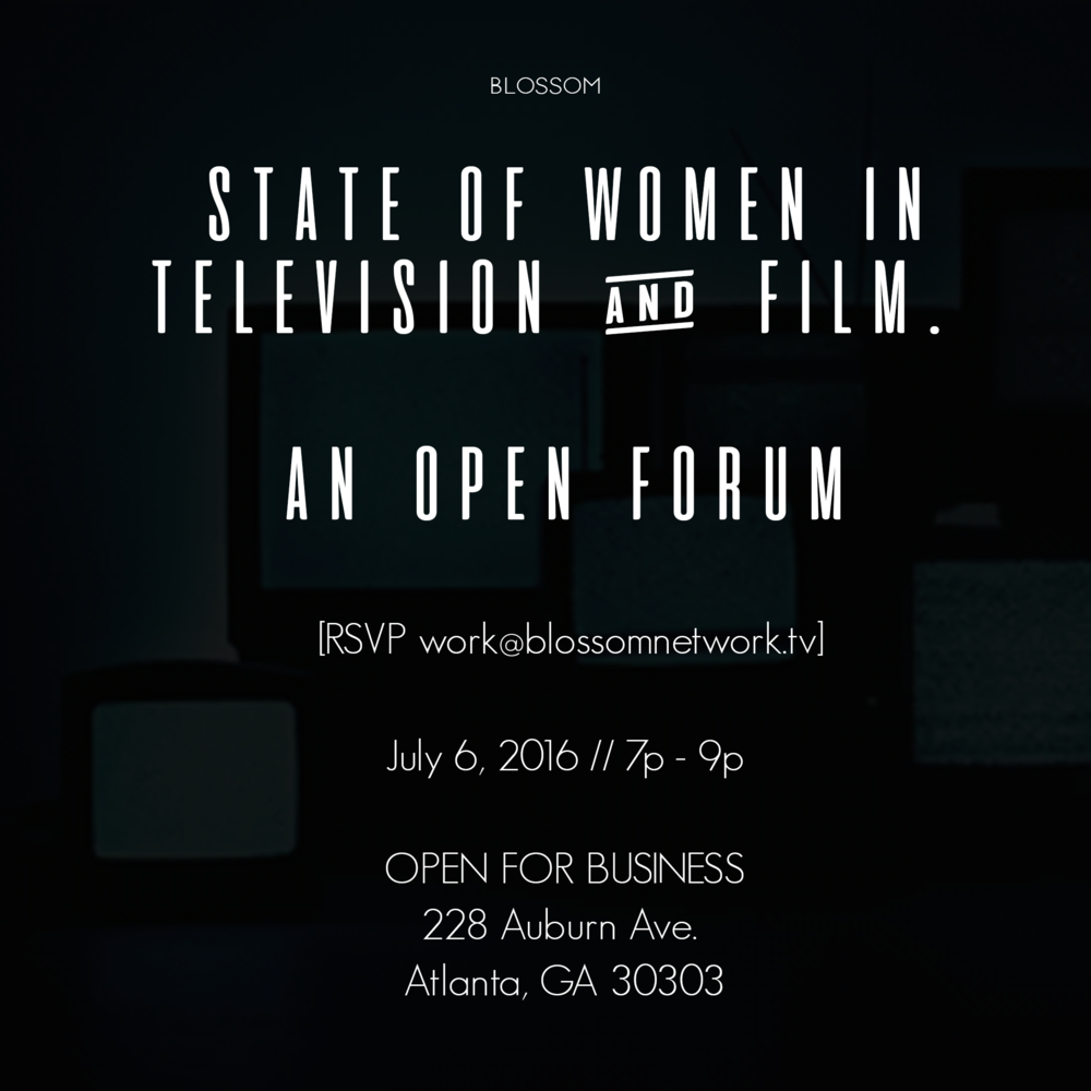 This forum is conversation for women to discuss their thoughts, feelings and collaborate on solutions to current state of women in television, media and film. Our mission as a network is to create spaces where our audience feels safe living in their authentic power. We're holding this event in 5 cities over the course of the year.
