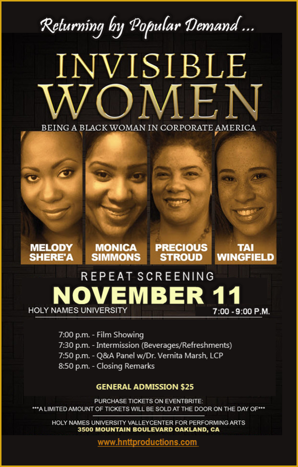 "With the premiere of ""Hidden Figures"" (a film that highlights the ignored history of the immense contributions black women made to the Space Race of the 1960s) just a couple of months away, Head Not The Tail Productions (HNTT Productions) is releasing the timely documentary, ""Invisible Women: Being Black in Corporate America,"" which uncovers and addresses issues around racism that profoundly affect black women in the corporate workplace. Read more about this documentary on Shadow and Act."