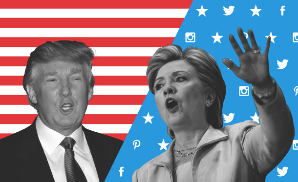 Visualizing Election 2016 , linguistic analysis of the candidates in the  United States presidential election.