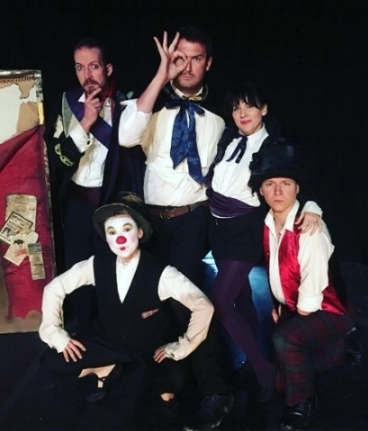 Brighton Fringe opening night- The Warren  (Alex Freeborn, Rob Cummings, Rebecca Cox, Dott Cotton, Max Dunham)