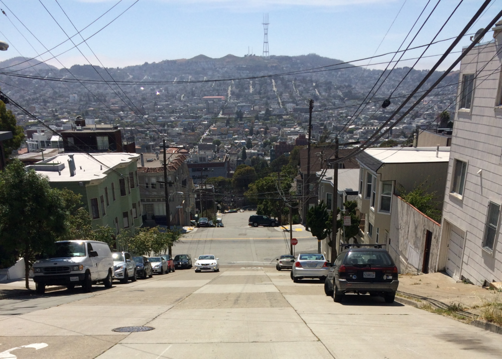 View onto the Mission from Southern Heights and Carolina