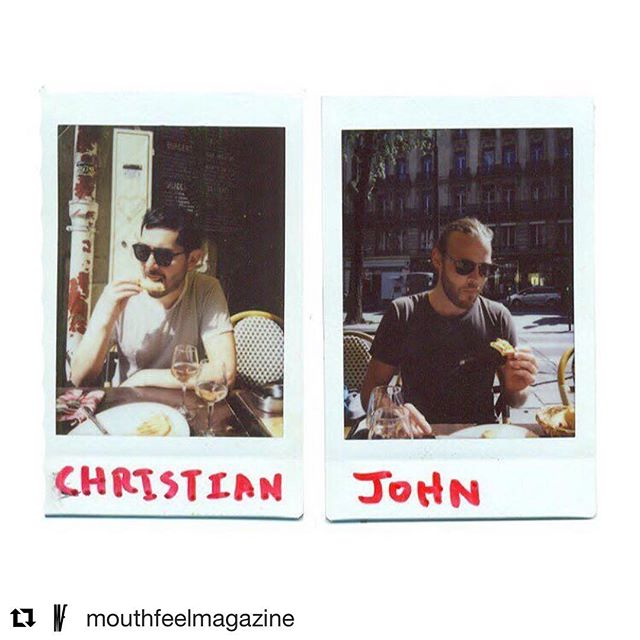 We went to Paris and took polaroids of hot guys eating things @mouthfeelmagazine #americanbaguettesinparis http://bit.ly/2tHh8xz
