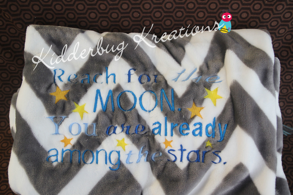 Blanket-reach for the moon, you are already among the stars