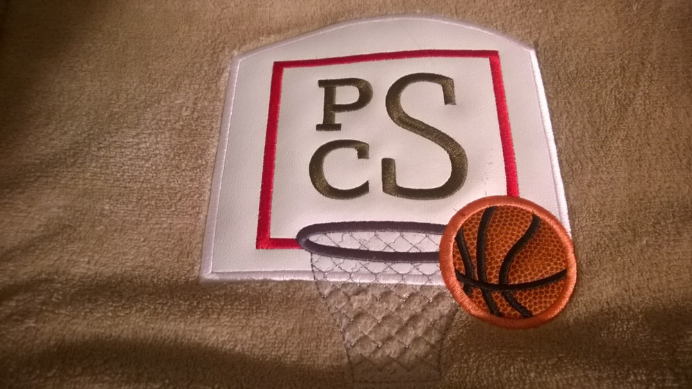 blanket-basketball with monogram
