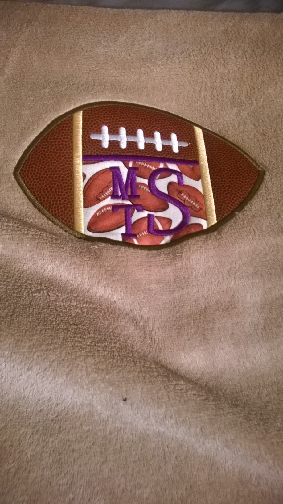 Blanket-football monogram