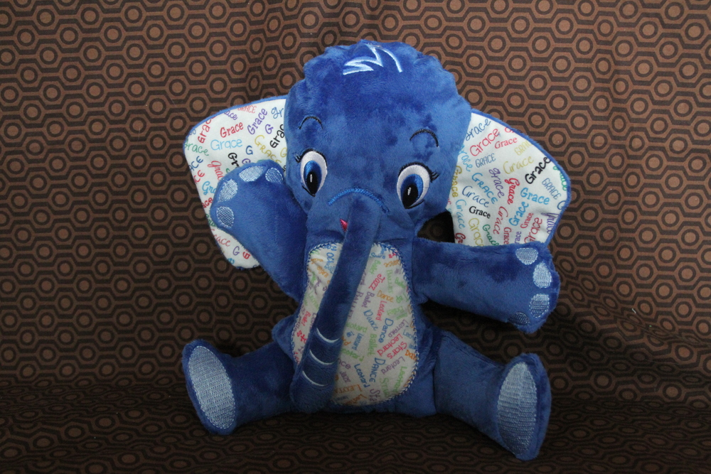 Stuffed animal-personalized elephant