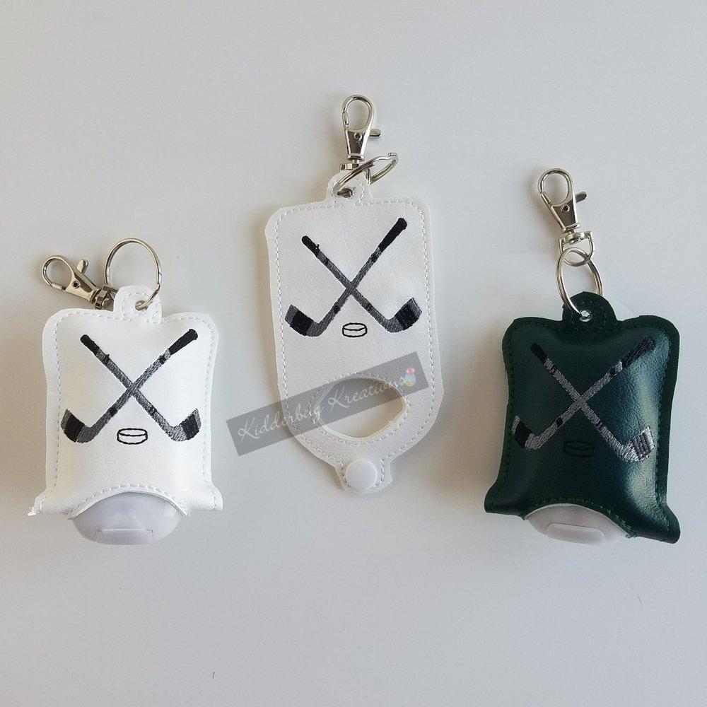 Hockey hand sanitizer cases