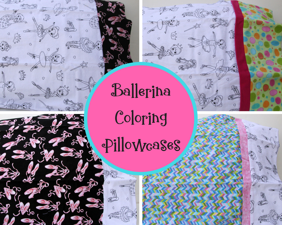 Ballerina Coloring Pillowcase — Kidderbug Kreations-Unique ...