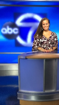 Lindsey in WJLA-TV's newly renovated studio, September 2015.