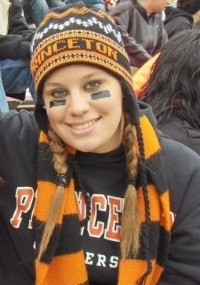 Lindsey at a Princeton football game, fall 2006. Go, Tigers!