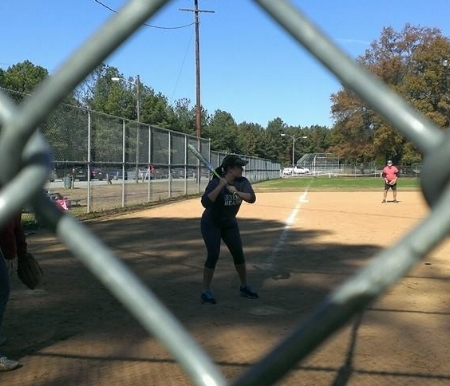Lindsey played for the WRIC-TV softball team in the fall of 2013.