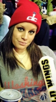 Lindsey also frequents the Verizon Center to cheer on the Washington Wizards! #dcRising
