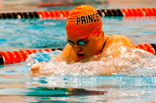 Lindsey swam competitively for 16 years and coached for several years after college. Here she is pictured competing for the Princeton club swim team, spring 2010.