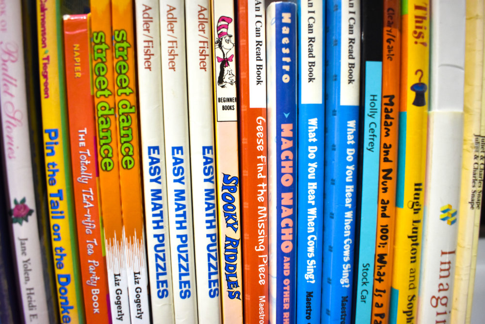 Children's books are pictured at George Mason Regional Library in Annandale, Va., Saturday, Sept. 29, 2018. (Lindsey Leake/American University)
