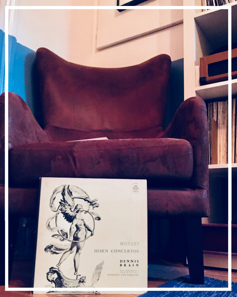 program: horn concertos 1-4; angel records, performed by dennis brain