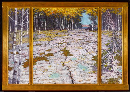 Autumn Forest With Glaciated Landscape — Lawren S. Harris