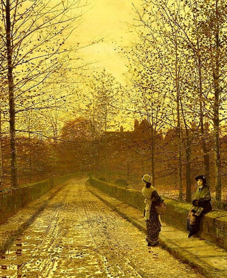 In The Golden Gloaming - John Atkinson Grimshaw 1883