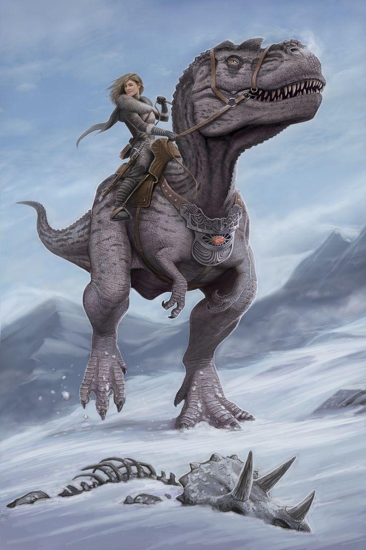 vw riding a dinosaur to town.jpg