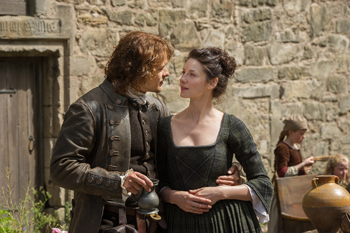 "Sam Heughan and Caitriona Balfe in Outlander, ""Lallybroch"" 