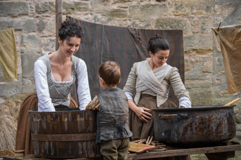 "Caitriona Balfe and Laura Donnelly in Outlander, ""The Watch"" 