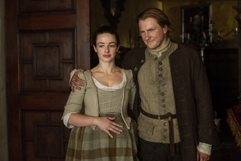 "Laura Donnelly and Steven Cree in Outlander, ""The Watch"" 