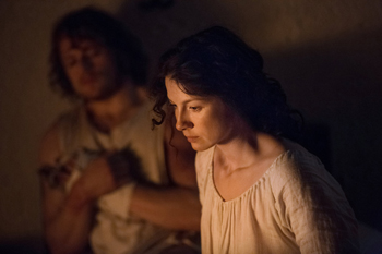 "Caitriona Balfe and Sam Heughan in Outlander, ""To Ransom a Man's Soul"" 