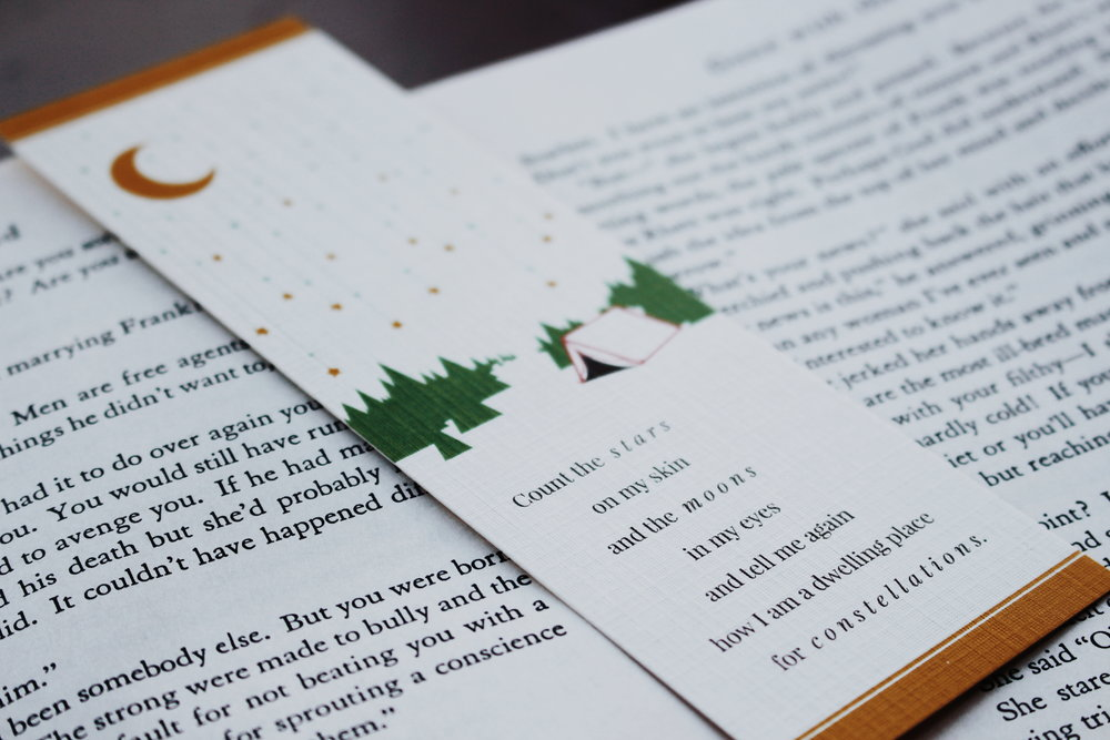 Shop: poetry bookmarks - I had the pleasure of collaborating with The Perpetual You and Little Legends on a series of bookmarks designed around Ease, Joy, Wealth, and Fun. Shop the collection at The Perpetual You's online marketplace!