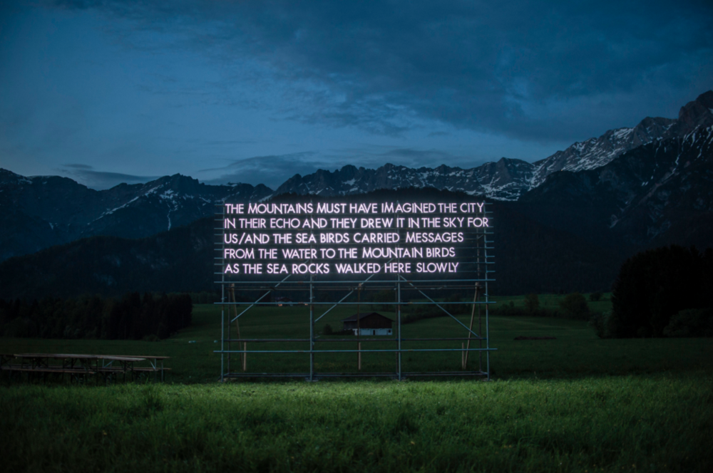 Robert Montgomery: Light poems