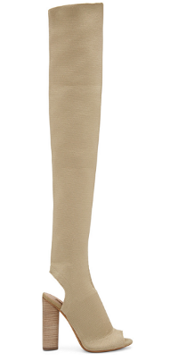 Yeezy Season 2 Beige Knit thigh-high open toe boot   click here  .