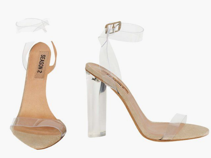 """Lucite Heel   - Yeezy Season 2    **It's recommended when purchasing this heel to buy it one size larger than your usual shoe size**   The    lucite    heel! First of all, i've always loved a good pair of    sandal    heels - specifically during the summer. If you live in Toronto,or any place with similar weather patterns,you'll understand my excitement when it comes to wearing open toe heels.Unfortunately for me since I live in Toronto I only have about 3 months to enjoy the luxury of an everyday sandal. If you aren't from Toronto understand our summer """"officially"""" starts in June and give or take ends in August.However, as a Torontonian I expect it to start in April and end in October dammit!!!Le sigh, I am always met with disappointment... Secondly, i've always loved an    acrylic    styled heel (as you know from my previous posts). They're so versatile and easily paired with anything!The greatest thing about these heels,other than what the brand name holds,any look alike purchase is easily accepted. Unlike purchasing a pair of identical Yeezy Boost which by default would be unacceptable. So in other words -   if you think this price point is a bit ridiculous you're properly right. The Lucite heel or rather the acrylic heel (whether purchased from Kanye West or not) should already be a fashion statement piece in your closet - whether it is identical or not."""