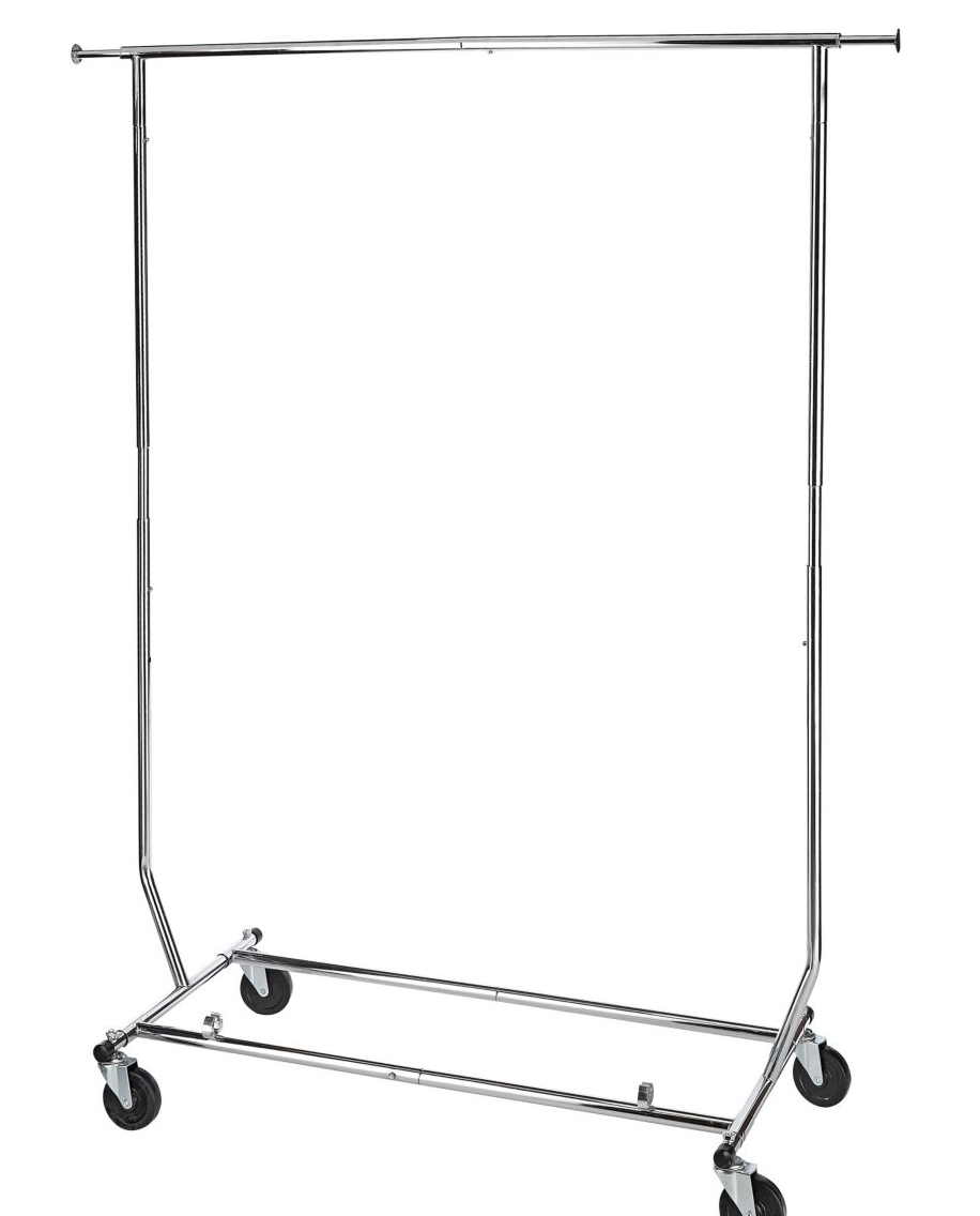 Large to medium living space. Silver rolling rack (click picture or   click here ).
